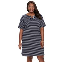 Plus Size Women's Croft & Barrow® Embroidered Dress