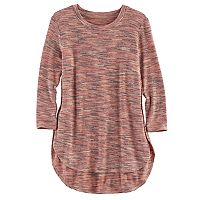 Girls 7-16 Fire, Love 3/4-Length Sleeve Side Slit Tee