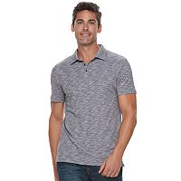 Men's Marc Anthony Slim-Fit Shadow Dye Marled Polo