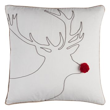 Rizzy Home Reindeer Throw Pillow
