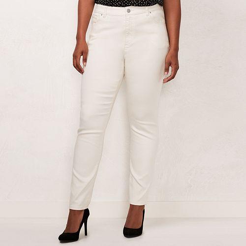Plus Size LC Lauren Conrad Color Skinny Jeans