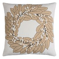 Rizzy Home Wreath III Throw Pillow