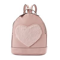 Candie's® Geri Fuzzy Heart Mini Dome Backpack