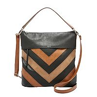 Relic Sophie Patchwork Chevron Convertible Crossbody Bag