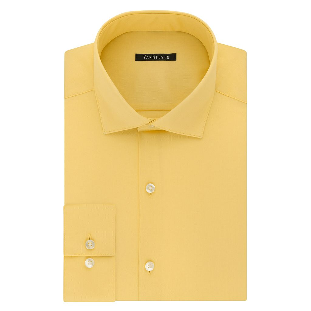 Men's Van Heusen Slim-Fit Lux Sateen No-Iron Dress Shirt