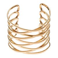 Plus Size Crisscross Multi Row Cuff Bracelet