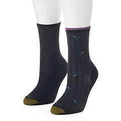 Women's GOLDTOE 2-pk. Herringbone Rose Crew Socks