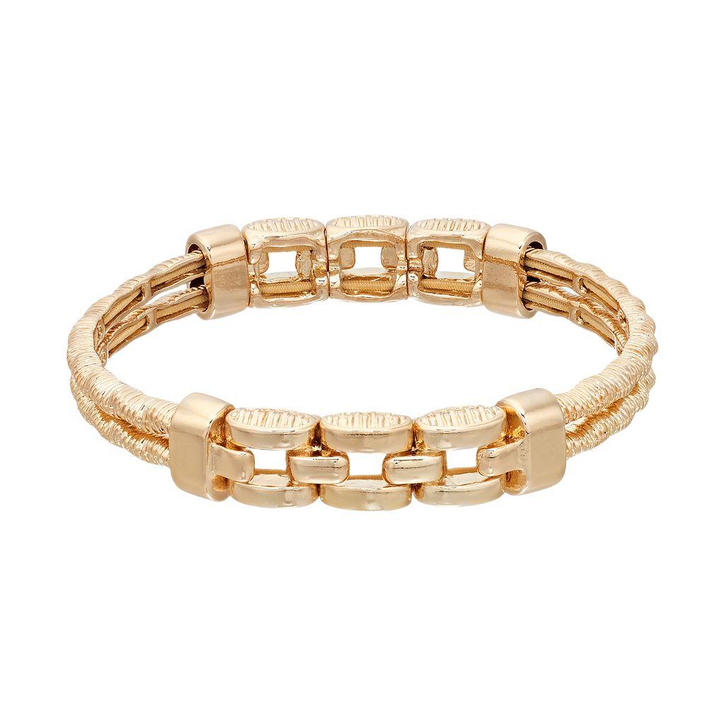 Napier Linked Double Strand Stretch Bracelet