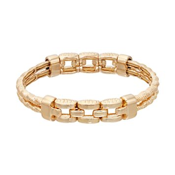 Napier Linked Double Strand Stretch Bracelet