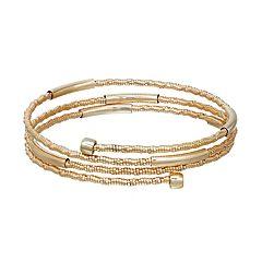 Napier Rondelle Bead Coil Bracelet