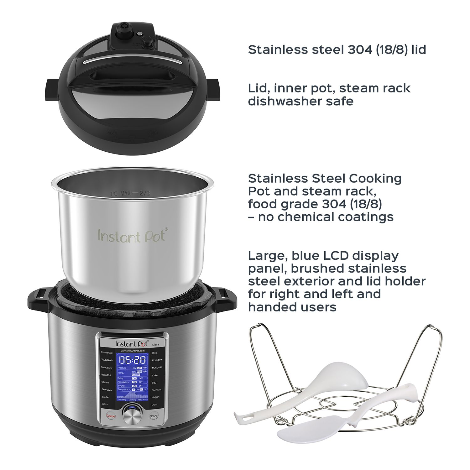 Instant Pot Ultra 10in1 6qt Programmable Pressure Cooker null