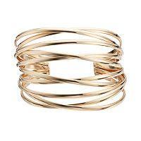 Plus Size Crisscross Multi Row Cuff Bracelet