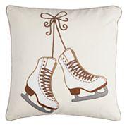 Rizzy Home Ice Skates Throw Pillow