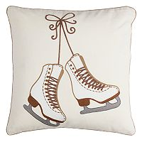 Rizzy Home Ice Skates Throw Pillow