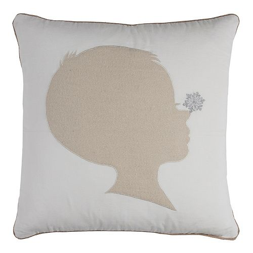 Rizzy Home Child Silhouette Throw Pillow