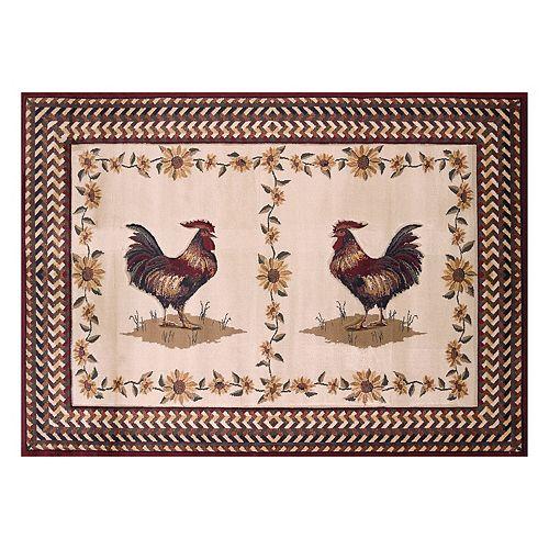 United Weavers Urban Galleries Roosterfest Framed Rug