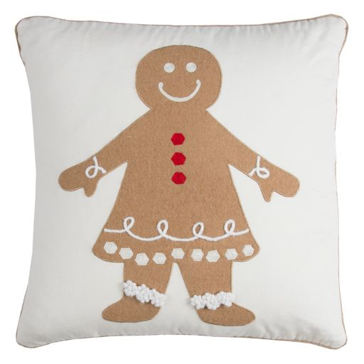 Rizzy Home Gingerbread Throw Pillow