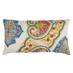 Rizzy Home Abstract Floral Oblong Throw Pillow