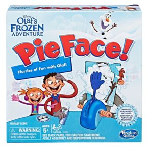 Disney's Olaf Frozen Edition Pie Face Game by Hasbro