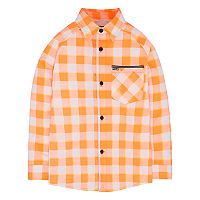 Boys 4-7 Hurley Poplin Plaid Button Down Shirt