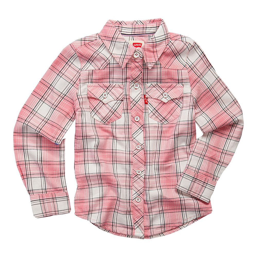 e466d3ac0 Toddler Girl Levi's Plaid Button Front Shirt
