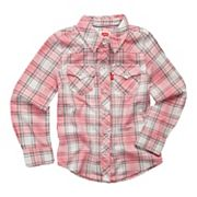Toddler Girl Levi's Plaid Button Front Shirt