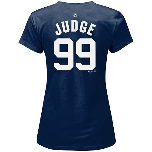 Plus Size Majestic New York Yankees Aaron Judge Name and Number Tee
