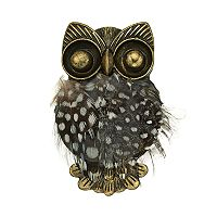 Antiqued Gold Tone Owl Pin