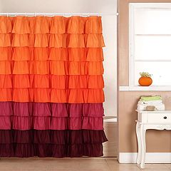 Portsmouth Home Harvest Ruffle Shower Curtain