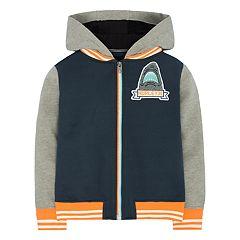 Boys 4-7 Hurley Shark Varsity Zip Hoodie