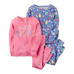 "Girls 4-14 Carter's ""Sweet Dreams"" Monsters 4-pc. Pajama Set"