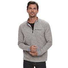 Men's Marc Anthony Slim-Fit Marled Quarter-Zip Pullover