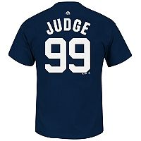 Men's Majestic New York Yankees Aaron Judge Name and Number Tee