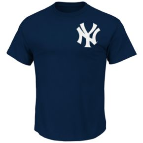 Big & Tall Majestic New York Yankees Aaron Judge Name and Number Tee
