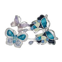 Napier Triple Butterfly Pin