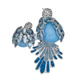 Napier Blue Double Bird Pin