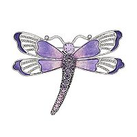 Napier Purple Dragonfly Pin
