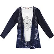 Girls 7-16 Speechless Medallion Tank Top & Cardigan Set