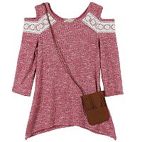 Girls 7-16 Speechless Ribbed Cold-Shoulder Sweater