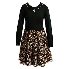 Girls 7-16 Emily West Leopard Print Skirt Dress