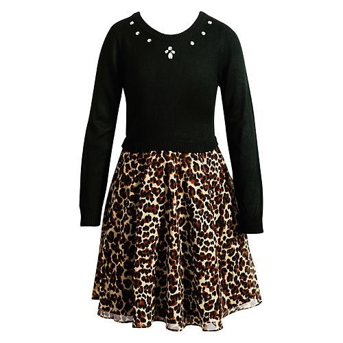 Girls 7-16 Emily West Leopard Print Skirt Dress