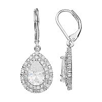 Napier Cubic Zirconia Nickel Free Teardrop Earrings