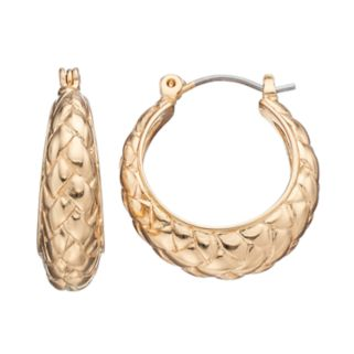 Napier Basket Weave Nickel Free Hoop Earrings