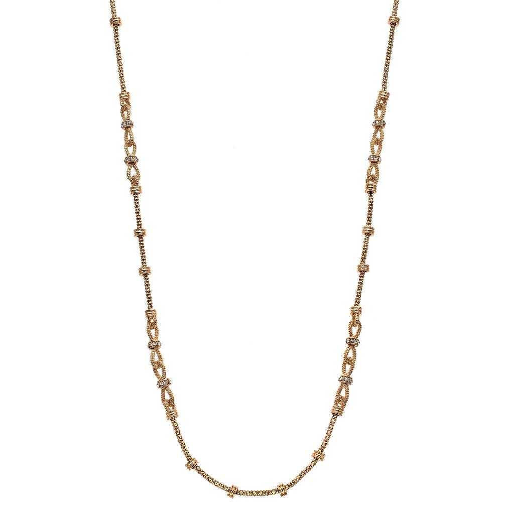 Napier Long Linked Rondelle Necklace