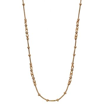 Napier Long Linked Rondelle Necklace