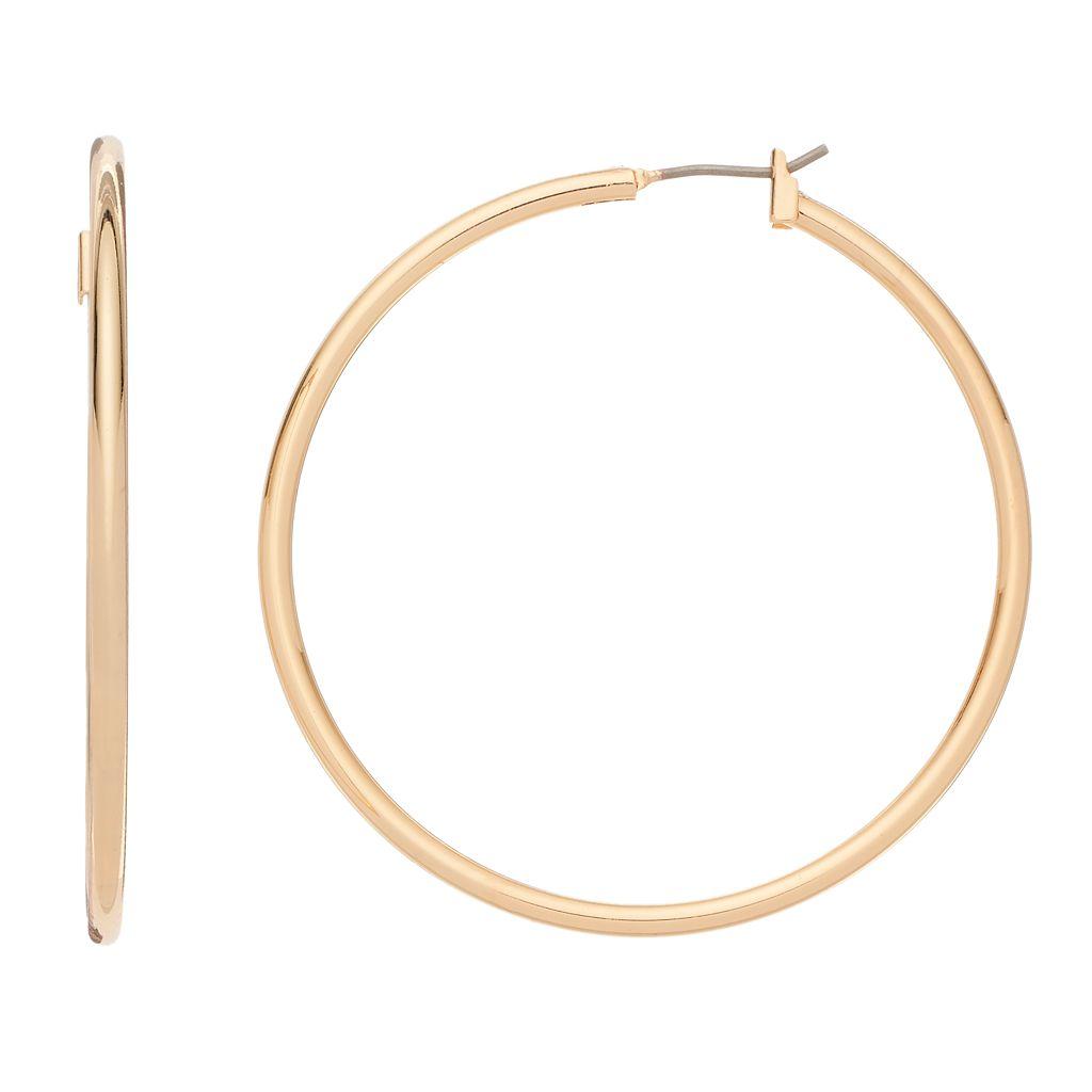 Napier Round Tube Nickel Free Hoop Earrings