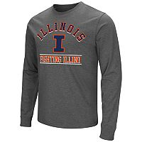 Men's Campus Heritage Illinois Fighting Illini Wordmark Long-Sleeve Tee