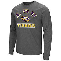 Men's Campus Heritage LSU Tigers Wordmark Long-Sleeve Tee