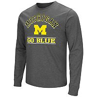 Men's Campus Heritage Michigan Wolverines Wordmark Long-Sleeve Tee