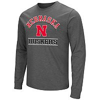 Men's Campus Heritage Nebraska Cornhuskers Wordmark Long-Sleeve Tee